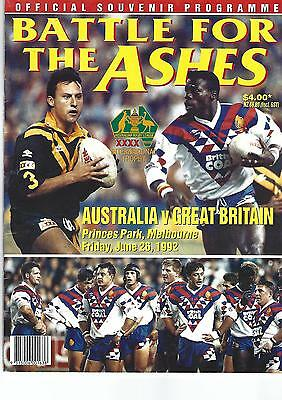AUSTRALIA v GREAT BRITAIN Second Test at Princes Park Melbourne, 26th June 1992