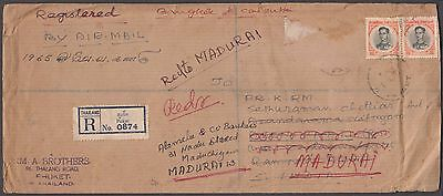 Thailand Puket Registered Redirected Cover To India Full Of Character