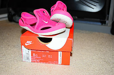 Girls Pink Sunray Protect Sandal Size 8c