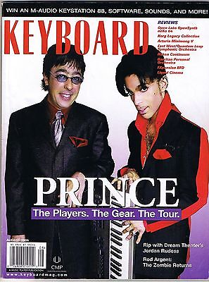 PRINCE 2004ever tour rigs, musician interviews, Rod Argent, KEYBOARD Magazine