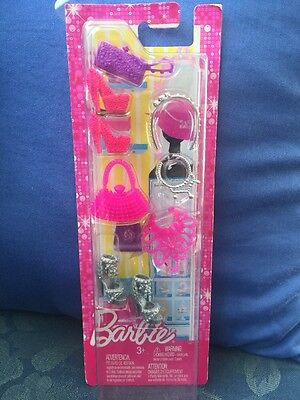 Barbie Fashionista - Shoes and Accessories Pink/Silver/Purple BNIP
