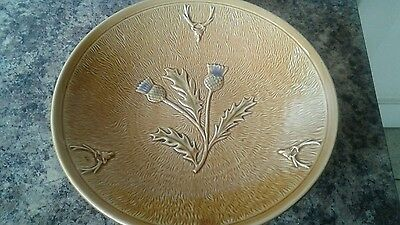 Glazed Stoneware Bowl with Thistle design - Made in Scotland?