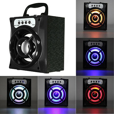LED Portable Wireless Bluetooth Speaker Super Bass For iPhone iPod iPad Samsung