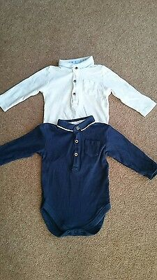 Baby boys long sleeved next bodysuits 6-9 months