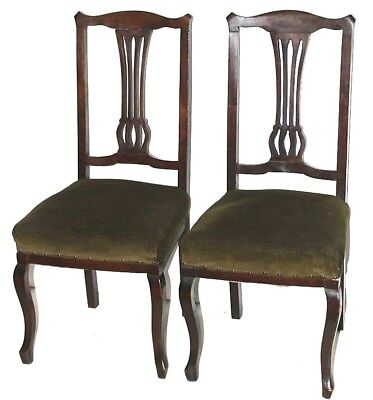 Antique pair of Chippendale Mahogany Dining Chairs - FREE Shipping [PL3628]