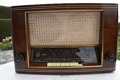 SABA Meersburg WII (W2) Röhrenradio German Tube Radio excellent condition (EL34)