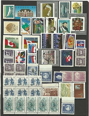 A Selection of Mainly Unmounted Mint Canadian Stamps on Hanger page.