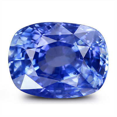 Natural Cornflower Blue Sapphire 4.1-Carat Unheated Cushion Cut Ceylon Gemstone