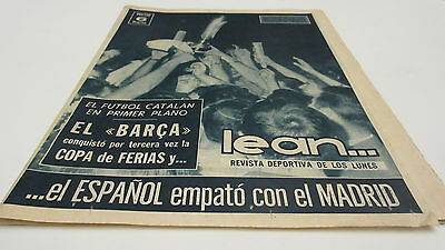 Fairs cup FINAL 1966 Real Zaragoza v Barcelona
