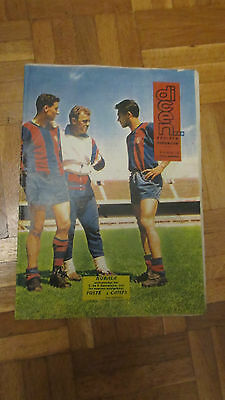 1962 FAIRS CUP FINAL Barcelona v Valencia  RARE PREVIEW ISSUE