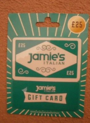 £25 JAMIE'S ITALIAN jamie Oliver restaurant giftcard voucher Coupon Chef Gift £
