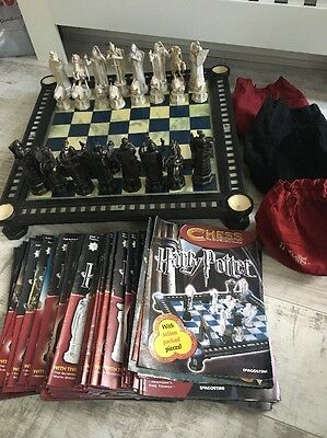 Deagostini Harry Potter  Chess Set  2 boards All 70 Mags 4 Bags Collectors Item