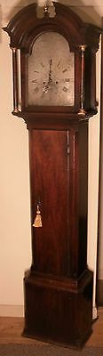 "Antique Mahogany  "" Portsmouth "" Silvered Dial Longcase / Grandfather Clock"