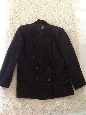 Vintage 80s  Ladies Size 12 Classic Linen Jacket By Peter Metchev