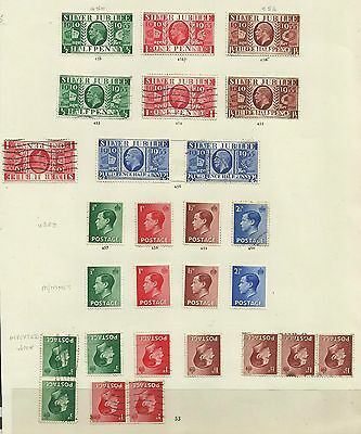 A Selection of George V & Edward VIII, Mounted Mint & Used with Varieties.