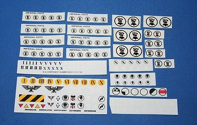 Warhammer 40K Space Marines - Imperial Fists Transfers