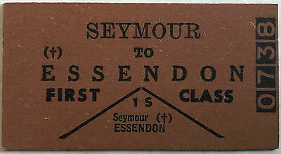 VR Ticket - SEYMOUR to Essendon First Class Single