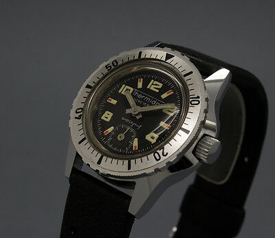 New Old Stock 30mm THERMIDOR Diver diver's vintage MECHANICAL watch NOS FE 233
