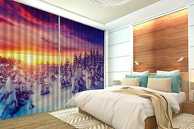3D Sun Pine 72 Blockout Photo Curtain Printing Curtains Drapes Fabric Window CA