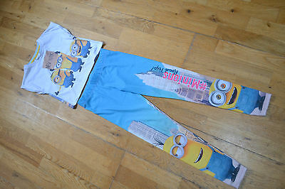 Girls 2-Piece Set T-Shirt & Leggings Minions In New York 7-8-9 Years