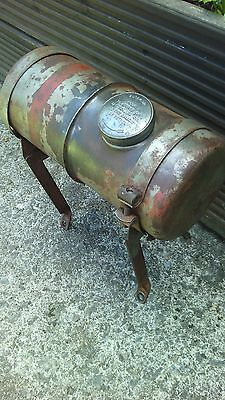 vintage engine fuel tank and mounting brackets