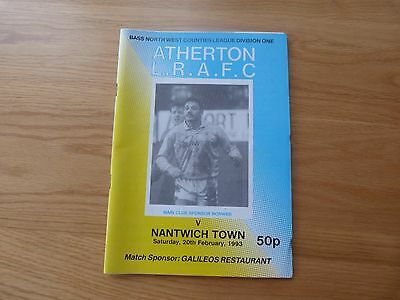 Atherton LRAFC v Nantwich Town Bass NW Counties 1993