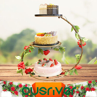 3-Tier Premium Cake Stand With Wedding Birthday Party Iron Manual Installation