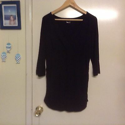 Maternity Expressions black top size 12 3/4 sleeves