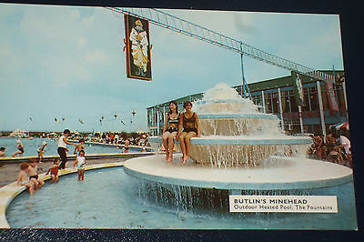 Butlins Minehead M2 Outdoor Heated Pool .the Fountains Holiday Camp Postcard
