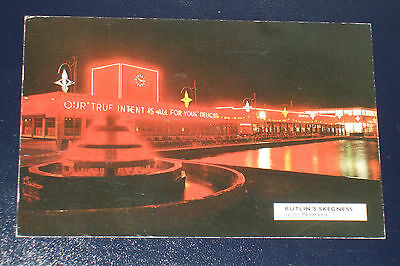 Butlins Skegness S42 Night Panorama Old Holiday Camp Postcard Lincolnshire