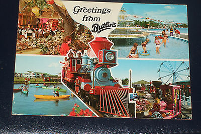 Butlins 2T4 Greetings General View Old Holiday Camp Postcard