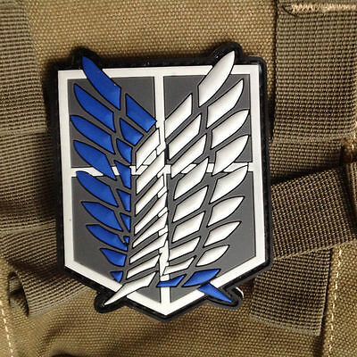 Attack on Titan Cosplay Scouting Legion Recon Corps Patch PVC Rubber Large Badge