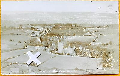 Rp Postcard. Elevated View Of Redruth From Carn Brea, Cornwall.