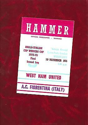1975/6 West Ham United v AC Fiorentina (Anglo Italian Cup Winners Cup Final)