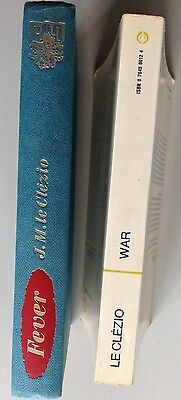 J M G Le Clezio 2 Novels, Fever, Rare English 1st and War In Paperback.