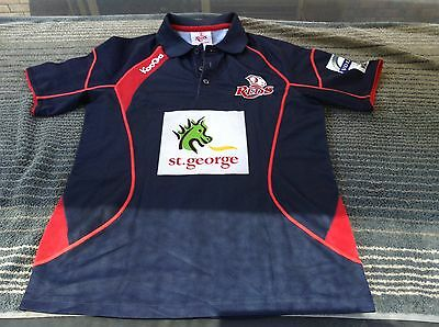 QUEENSLAND REDS  S Jersey Polo Shirt Super Rugby Union Football KooGa AUSTRALIA