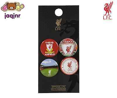 Official Liverpool FC Store - LFC 4 BADGE SET *New*