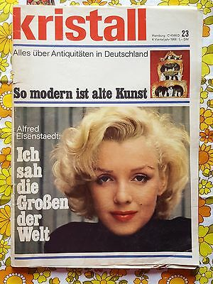 KRISTALL magazine 1966 MARILYN MONROE COVER  vintage Opel VW ads 1960s German