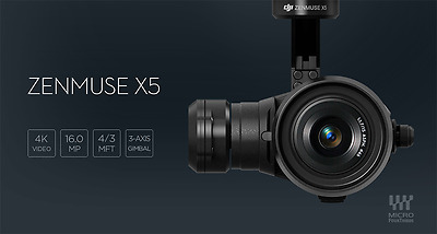 DJI X5 ZENMUSE and 3-Axis Gimbal with 15mm f/1.7 Lens