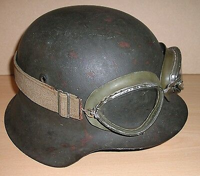 Original WW-2 era German Motorcycle Dispatch Rider's Goggles - Dated 1940...