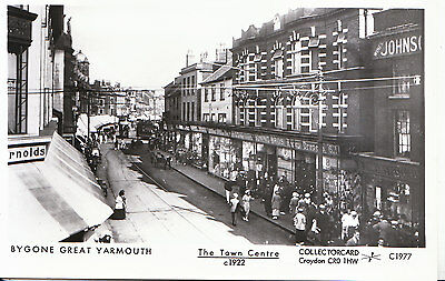 Bygone Great Yarmouth Postcard - The Town Centre c1922 - Pamlin Print   X654