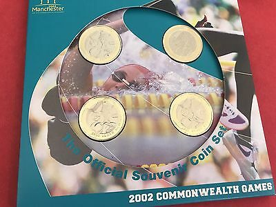 2002 BUNC 4 X £2 Coin Set-Commonwealth Games In Folder Incl. Northern Ireland