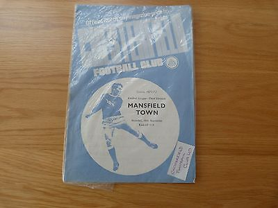 Chesterfield v Mansfield Town Football Programme 1971-72