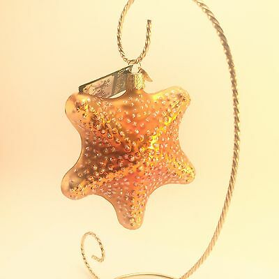The Merck Family Old World Christmas Gold Ocean Summer Starfish Ornament