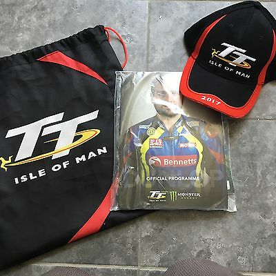 Brand New Isle Of Man TT 2017 Programme, Bag And Cap