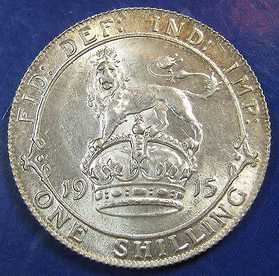 1915 1/- George V silver Shilling in an extremely high grade