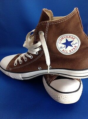 Converse All Star Chuck Taylor Brown Canvas High Top Men's Size 9 Women's 11