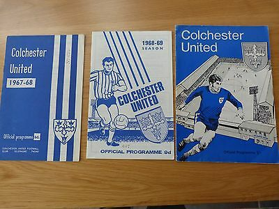 Colchester United 1960's Football Programmes (3)