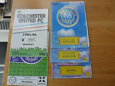 Colchester United 1980's Football Programmes (5)