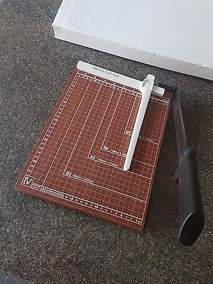 A4 Paper Cutter Guillotine Quality Wooden Based Trimmer Heavy Duty